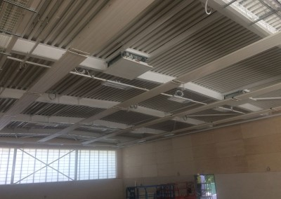 High level LINDAB radiant panels at Eversfield Prep School