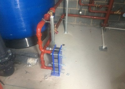 Plate heat exchanger for swimming pool at Eversfield Prep School