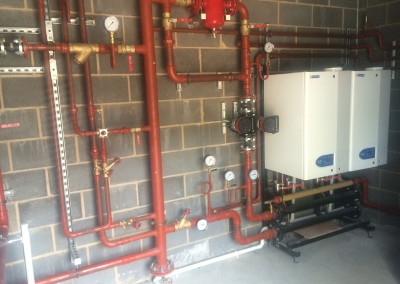 Plant room at Eversfield Prep School