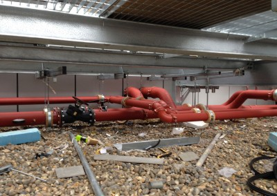 CHW pipework at Resorts World NEC