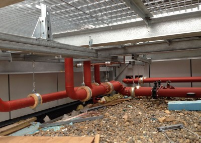 Pipework to feed air coolers at Resorts World NEC