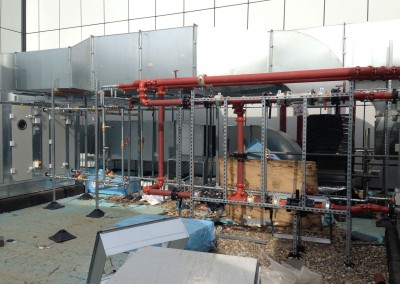 AHUs and Frost coils on roof level 2nd floor at Resorts World NEC Birmingham