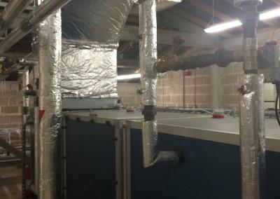 AHUs in roof void at Berkeley Ward