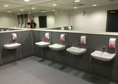 Male WHB's all sensor taps at Birmingham New Street Station