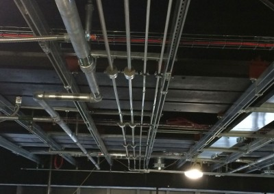 LTHW and CHW pipework at New Street Station