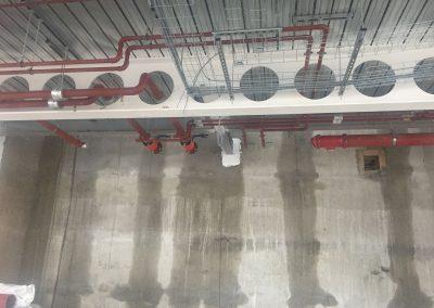 Pipework distribution Level 4 at HSBC Birmingham