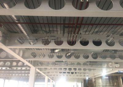 Pipework distribution Level 7 at HSBC Birmingham