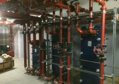 Resorts World pipework installation 2